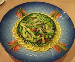 鮮菇炒蘆筍